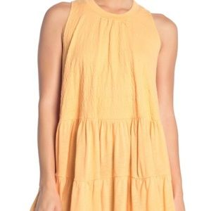 Free People – Right on Time Tunic Top LT ORANGE S